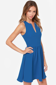 Change of Pace Sleeveless Blue Dress at Lulus.com!