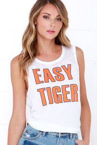 Chaser Easy Tiger Ivory Top at Lulus.com!