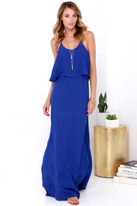 Serenity Now Royal Blue Maxi Dress at Lulus.com!
