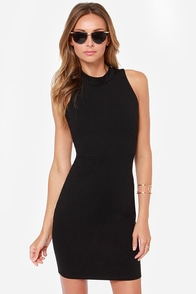 Only You Backless Black Bodycon Dress at Lulus.com!