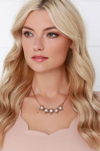 Grand Duchess Pink Rhinestone Necklace at Lulus.com!