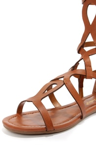Solo 14 Tan Tall Gladiator Sandals at Lulus.com!
