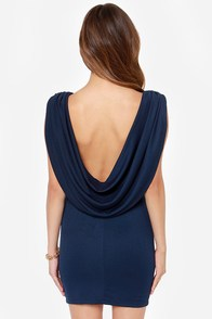 LULUS Exclusive Swank You Very Much Backless Navy Blue Dress at Lulus.com!