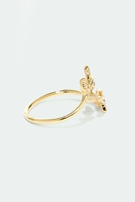 Crown of Laurel Gold Ring at Lulus.com!