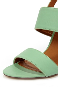 Fay 1 Mint High Heel Sandals at Lulus.com!