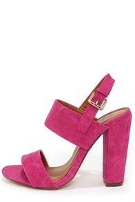Fay 1 Fuchsia High Heel Sandals at Lulus.com!