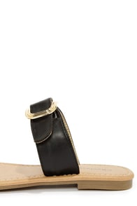 City Classified Fedora Black Slide Sandals at Lulus.com!