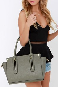 Stop the Clock Grey Handbag at Lulus.com!