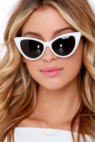 Clouded Leopard White Cat-Eye Sunglasses at Lulus.com!