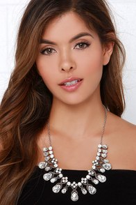 Breath of Fresh Era Silver Rhinestone Necklace at Lulus.com!