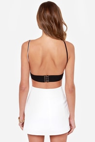 What's Line is Yours Black and White Striped Bra Top at Lulus.com!