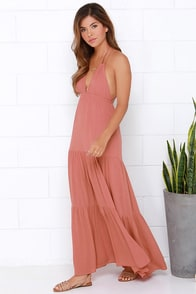 Pueblo Revival Terra Cotta Maxi Dress at Lulus.com!