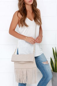 Gallop and Canter Light Beige Suede Leather Purse at Lulus.com!