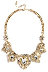 Tear Up Gold Rhinestone Statement Necklace at Lulus.com!