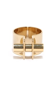 Follow Through Gold Ring at Lulus.com!