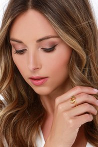 Shape or Form Gold Ring at Lulus.com!