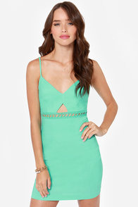 Utterly Untamed Cutout Sea Green Dress at Lulus.com!