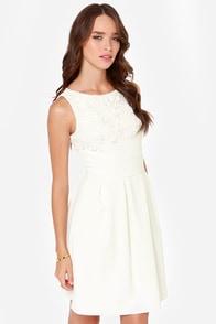 Darling Julie Ivory Lace Dress at Lulus.com!