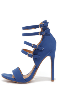 Four-One-One Blue Caged Heels at Lulus.com!