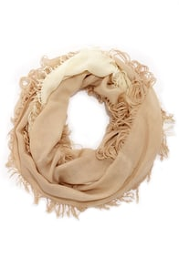 Fade to Last Beige Ombre Scarf at Lulus.com!