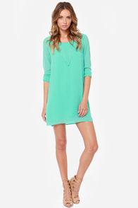 Lattice Dance Sea Green Shift Dress at Lulus.com!