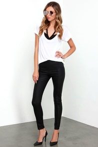 image Glamorous Greased Lightnin' Black Vegan Leather Pants