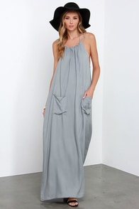 Dream Up Grey Backless Maxi Dress at Lulus.com!