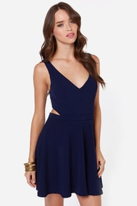 LULUS Exclusive Star Date Navy Blue Dress at Lulus.com!