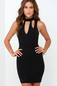 New Kid on the Mock Black Bodycon Dress at Lulus.com!