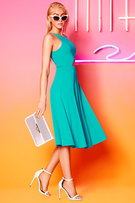 Drops of Jupiter Teal Midi Dress at Lulus.com!