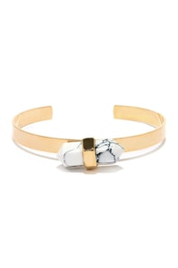 Rock to the Beat White Crystal Bracelet at Lulus.com!