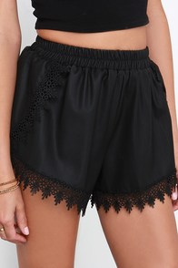 Glamorous Bella Donna Black Vegan Leather Shorts at Lulus.com!