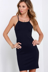 Glamorous Sleek Revenge Midnight Blue Dress at Lulus.com!
