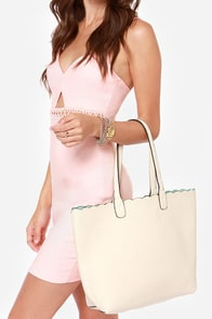 Two Truths Reversible Cream Tote at Lulus.com!