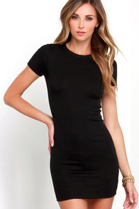 Hey Good Lookin' Short Sleeve Black Dress