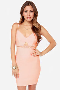 Utterly Untamed Cutout Peach Dress at Lulus.com!