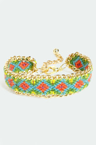 Friends Forever Gold and Green Woven Friendship Bracelet at Lulus.com!