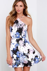 Keepsake Crossroads Floral Print Skater Dress at Lulus.com!