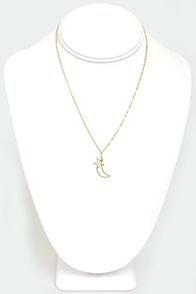Night Sky Gold Necklace at Lulus.com!