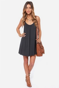 RVCA Ritual Rebel Charcoal Grey Dress at Lulus.com!