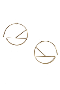 Piece by Piece Gold Threader Earrings at Lulus.com!