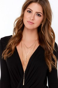 Win Some, Ruse Some Gold Layered Necklace at Lulus.com!