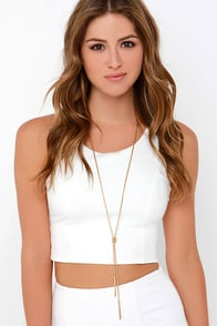 Twist and Shout Gold Necklace at Lulus.com!