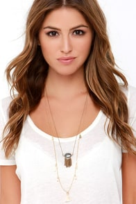Gypsy Singer Gold Layered Necklace at Lulus.com!