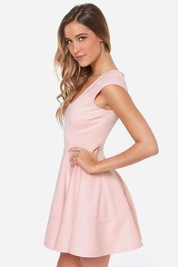 Great Minds Peach Dress at Lulus.com!