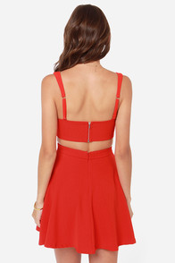 LULUS Exclusive Star Date Coral Red Dress at Lulus.com!