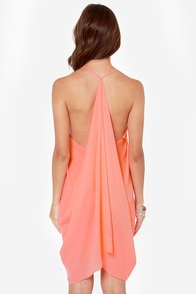 Tier for the Party Neon Coral Dress at Lulus.com!