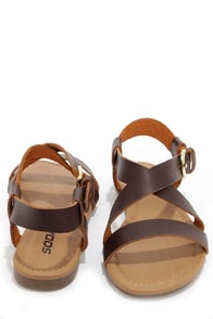 Soda Borgo Brown Ankle Strap Flat Sandals at Lulus.com!