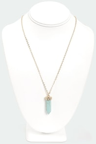 Token Love Turquoise Necklace at Lulus.com!