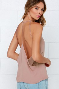 Graceful Glide Taupe Top at Lulus.com!